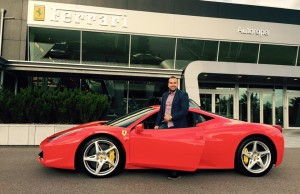 Skyze with his Ferrari 458:a Italia